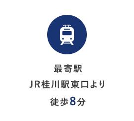 最寄駅 JR桂川駅東口より徒歩8分